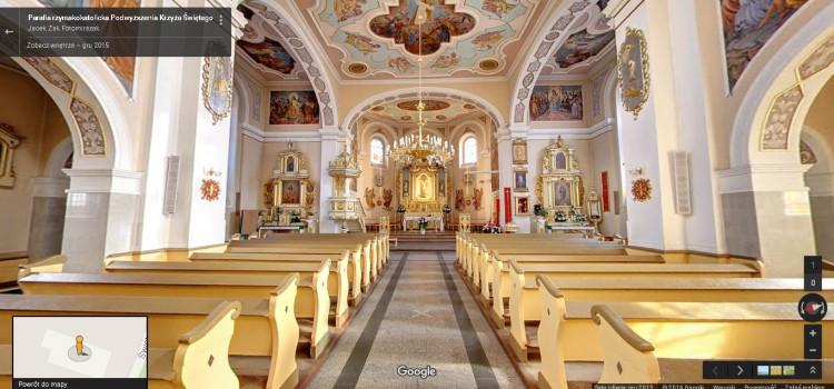 Wirtualny spacer po kościele pw.Podwyższenia Krzyża Świętego w Rumi